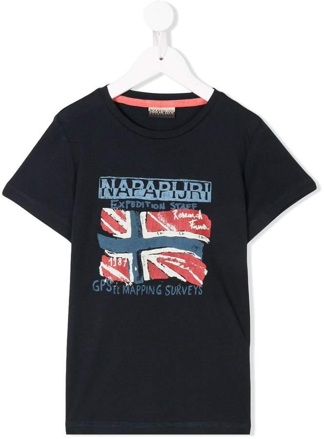 Napapjiri Kids logo printed T-shirt