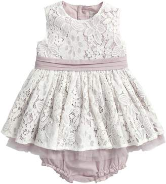 Mamas and Papas Baby Girls Lace Occasion Dress and Briefs Set (2 Piece)