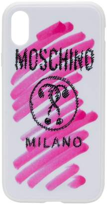 Moschino logo print iPhone XR case