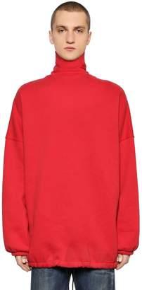 Balenciaga Oversize Cotton Turtleneck Sweater