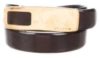 St. John Leather Embellished Belt