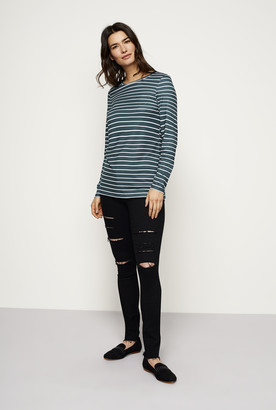 Long Tall Sally The Striped Long Sleeve Cotton Stretch Tee
