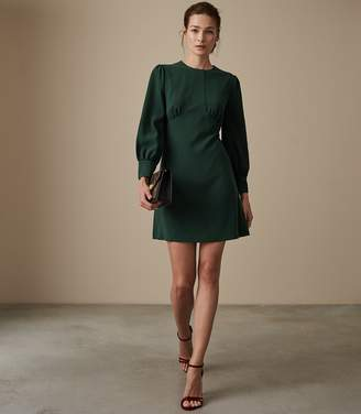 Reiss ANALISE SEAM DETAIL CREPE DRESS Deep Green