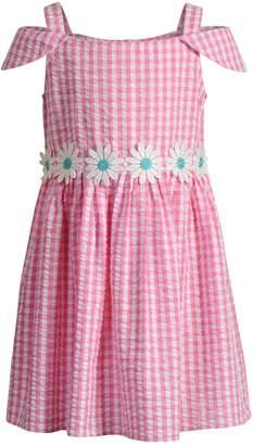 Youngland Girls 4-6x Daisy Seersucker Dress