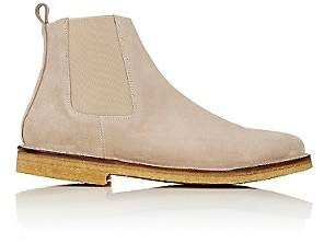 Barneys New York MEN'S CREPE-SOLE CHELSEA BOOTS - BEIGE/TAN SIZE 11 M
