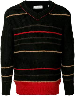 TOMORROWLAND striped embroidered sweater