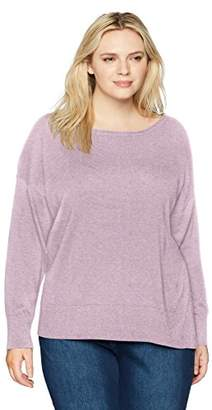NYDJ Women's Plus Size Long Sleeve Sweater Exposed Seams