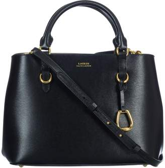 Lauren Ralph Lauren Black Leather Bag - ShopStyle UK 3f63bd18daa6f