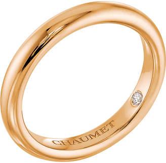 Chaumet Fidélité 18ct yellow-gold diamond wedding band