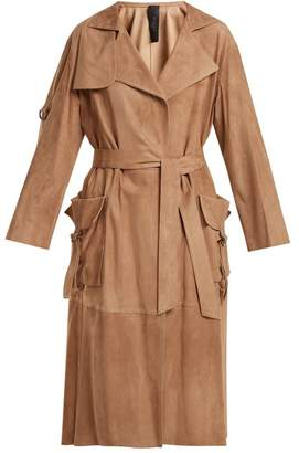 Giani Firenze - Patch Pocket Suede Coat - Womens - Light Brown