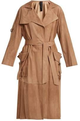 Giani firenze Giani Firenze - Patch Pocket Suede Coat - Womens - Light Brown