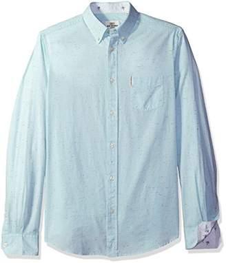 Ben Sherman Men's Woven Long Sleeve Summer Print Shirt
