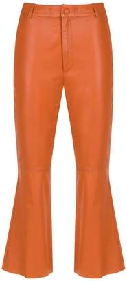 Nk leather cropped trousers