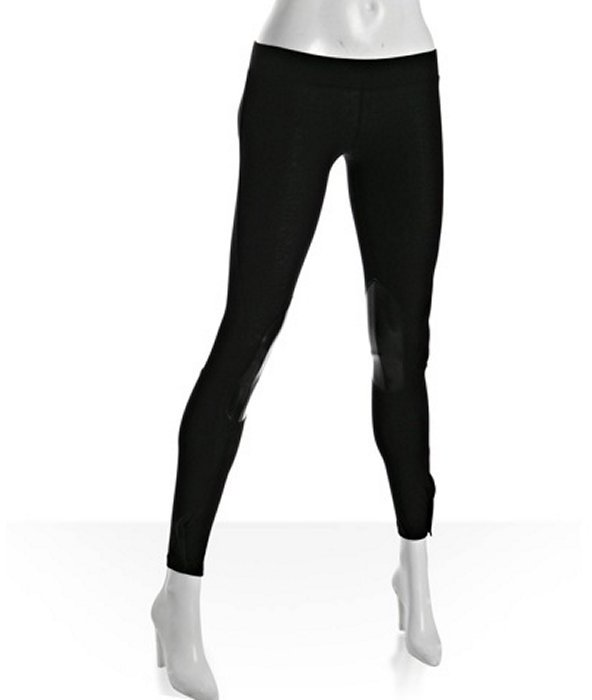 LnA black stretch cotton riding pant leggings