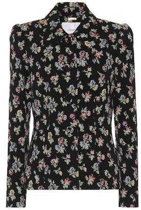 Erdem Floral stretch-cotton jacket