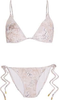 Melissa Odabash Manhattan Lizard-Print Triangle Bikini