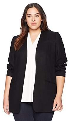 Calvin Klein Women's Size Plus Open Texture Jacket