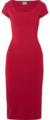 SOLACE London The Ceirra Stretch-knit Midi Dress