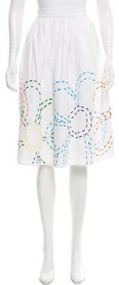 Mira Mikati Embroidered Pleated Skirt w/ Tags