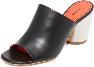 Proenza Schouler Block Heel Mules $560 thestylecure.com