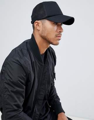Asos Design DESIGN trucker cap in black