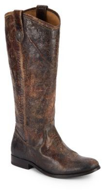 Melissa Distressed Leather Tall Boots $368 thestylecure.com