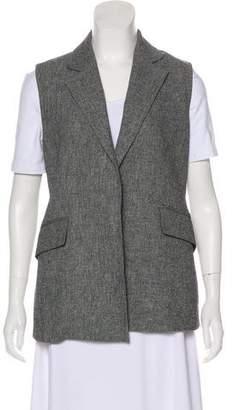 Theory Linen Notch-Lapel Vest
