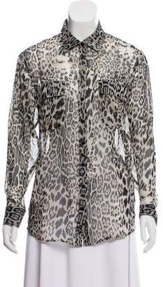 Lovers + Friends Animal Print Button-Up Top