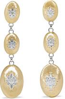Buccellati Macri 18K 黄金白金钻石耳环