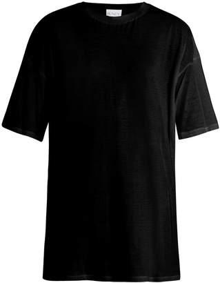 Raey Long-line cotton-jersey T-shirt