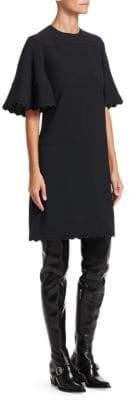 Chloé Cady Flutter-Sleeve Dress
