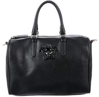 Versace Leather Medusa Satchel Black Leather Medusa Satchel