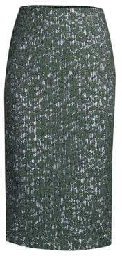 Piazza Sempione Lace and Stripe Pencil Skirt
