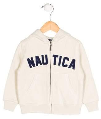 Nautica Boys' Logo Hooded Sweatshirt