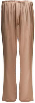 Carine Gilson Lace-trimmed silk-satin pyjama trousers