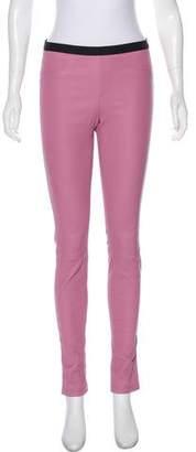 Helmut Lang Mid-Rise Leather Pants