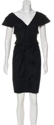 Fendi Wool Knee-Length Dress