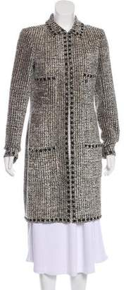 Chanel Embellished Tweed Coat