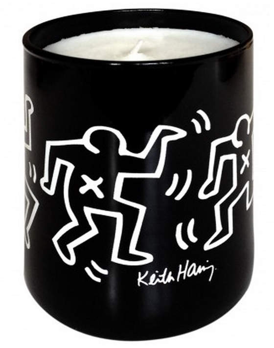 Thompson Ferrier Keith Haring Black with White Drawing Candle