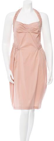 Saint LaurentYves Saint Laurent Draped Sleeveless Dress