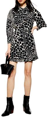 Topshop Giraffe Print Minidress