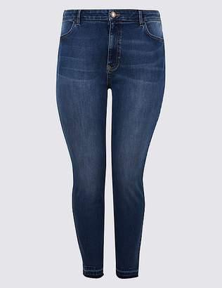 Marks and Spencer CURVE Drop Hem High Waist Skinny Leg Jeans