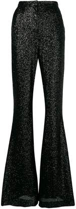 Elie Saab glitter flared cuff trousers