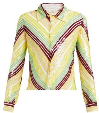 Ashish Striped Sequinned Shirt - Womens - Multi