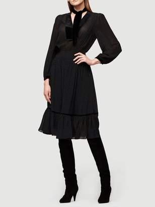 Frame Velvet Silk Dress