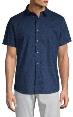 Slate & Stone Printed Short-Sleeve Button-Down Shirt