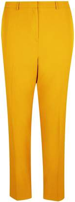 Dorothy Perkins Womens **Dp Curve Yellow Elastic Back Ankle Grazer Trousers