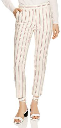 Sandro Ringo Cropped Striped Pants