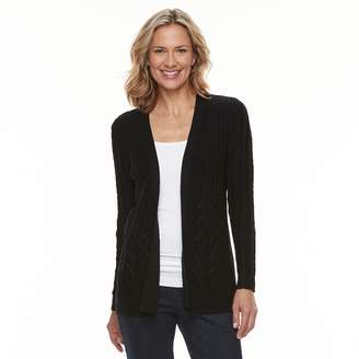 Croft & Barrow Women's Cable-Knit Cardigan