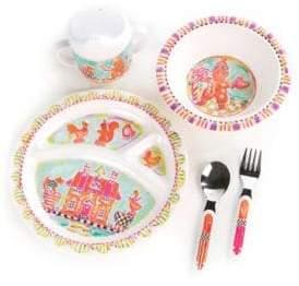 Mackenzie Childs MacKenzie-Childs Toddler's Six-Piece Gingerbread Bunny Dinnerware Set